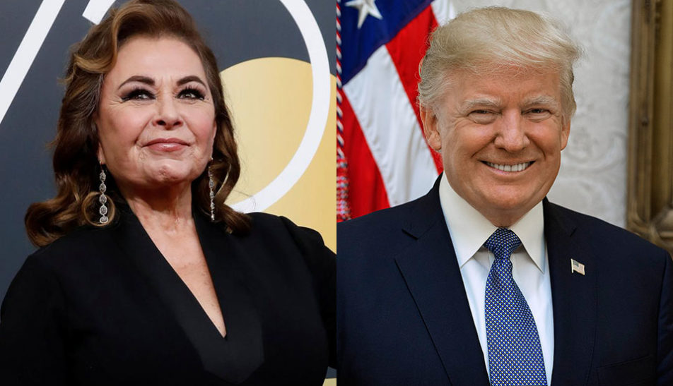 """Trump sees media bias in the handling of """"Roseanne"""" cancellation"""