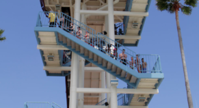 Boy falls 31 feet after being pushed off waterslide platform by 18-year-old suspect