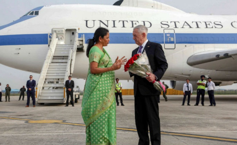 "Jim Mattis on 2+2 talks said that ""Anticipate India will bring up Russia Missile Deal"""