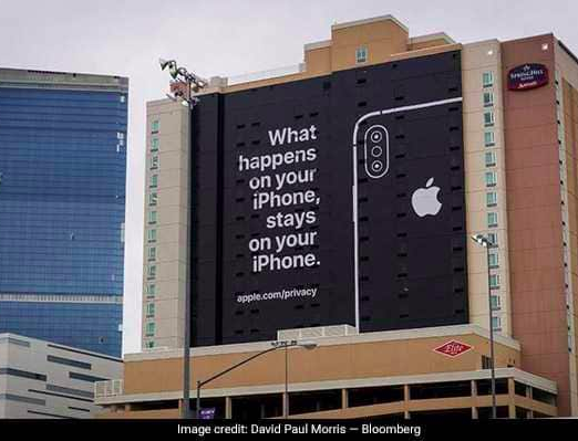 Despite of Absence in CES 2019, Apple's Billboard Caption Punches its Silicon Valley Competitor