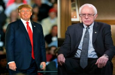 Donald Trump welcomed Bernie Sanders to White House race in 2020