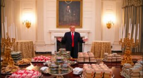 US President Arranged Fast-Food Lunch For Athletes To Celebrate Championship Again