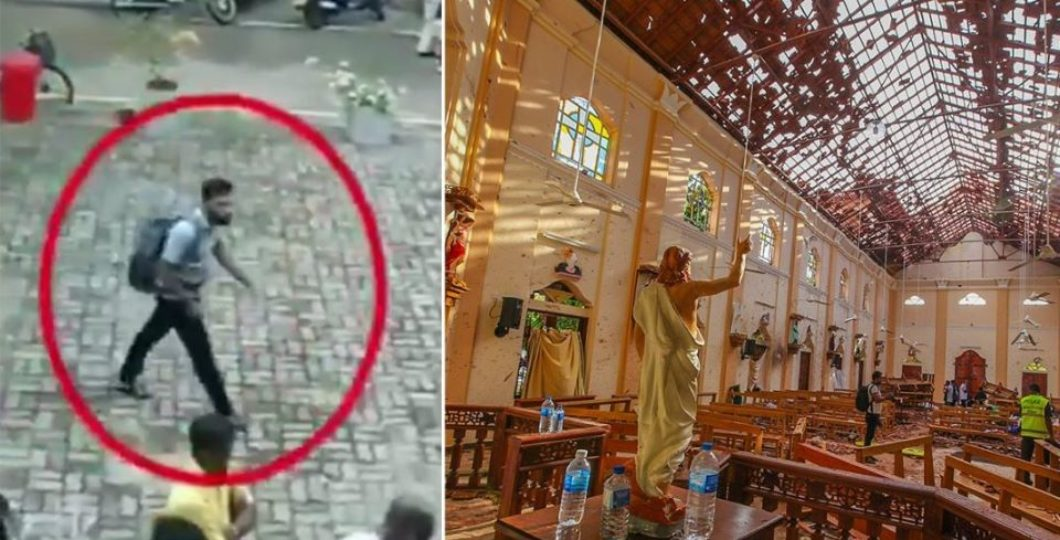 Video Footages Shows Before Entering Sri Lanka Church Alleged Suicide Bomber Pats Girl