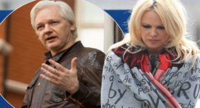"""Baywatch"" Star Pamela Anderson Visits Julian Assange In Prison"
