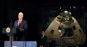 US Vice President Mike Pence Proclaimed First American Woman To Land On Moon