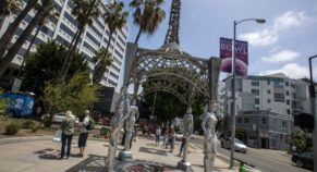 Man Who Vanished Trump's Hollywood Walk Of Fame, Theft Statue of Marilyn Monroe