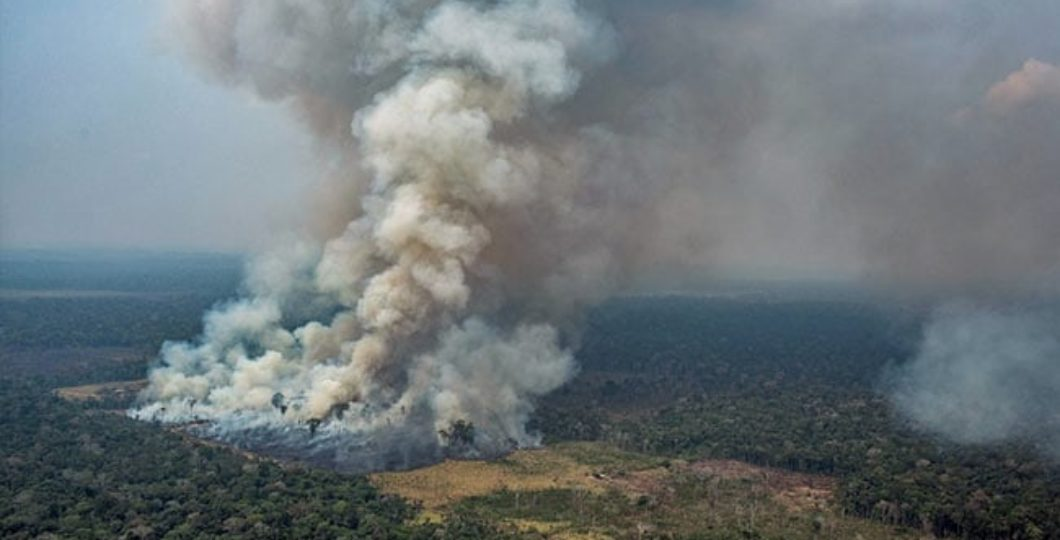 Brazil Military Warplanes Dump Water To Fight Fires On Burning Amazon Forest