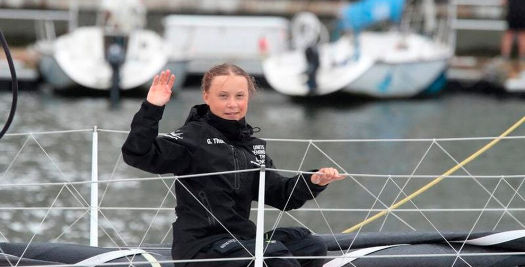 Climate Teenage Activist Heads New York After Two Weeks Journey Across Atlantic