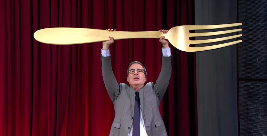 John Oliver Bakes Massive Marble Cake On His Show 'The Last Week Tonight'