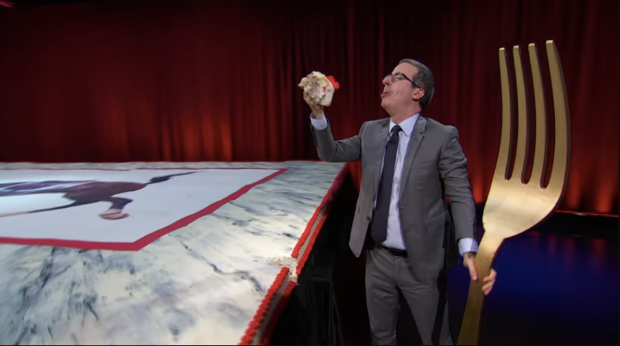 John Oliver Bakes Massive Marble Cake On His Show 'The Last Week Tonight'. | tnbclivee.com