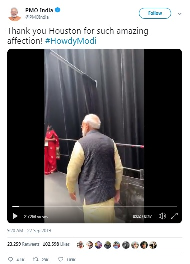 """USA Loves India,"" President Trump Expressed After ""Howdy, Modi"" Event / tnbclive.com"