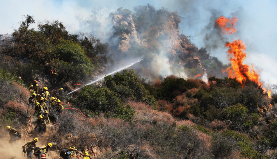 Wildfire Threatens Homes And Prompted Shiftings In California