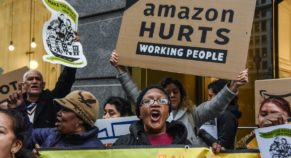 Amazon worker protesting over lack of protective gear, Fired