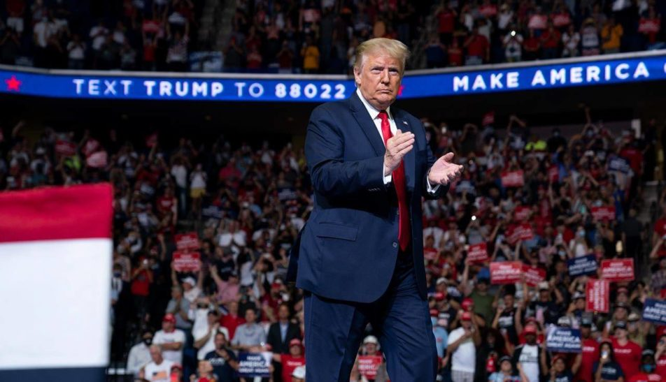 Trump holds campaign rally in Tulsa, urges to slow down the COVID-19 testing