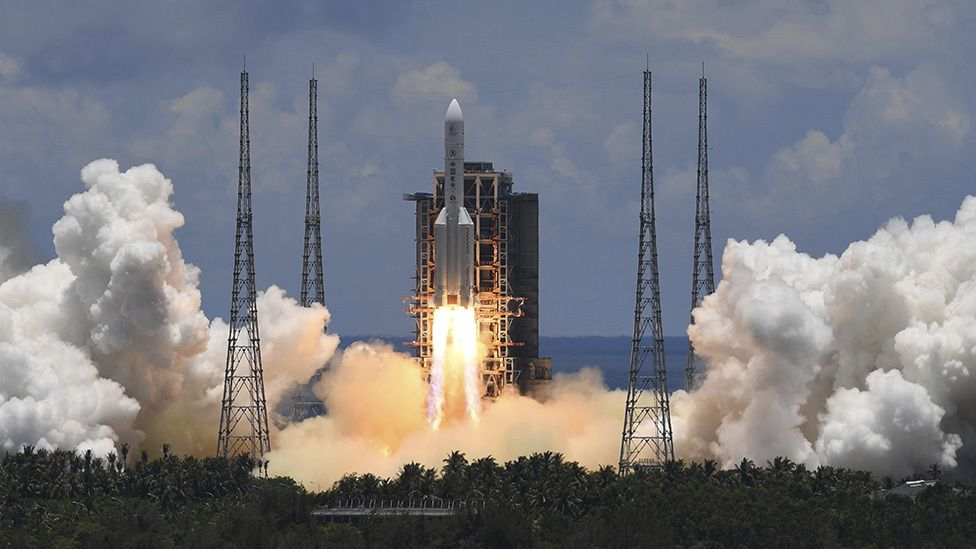 China joined in the space race with the US by launching Mars probe