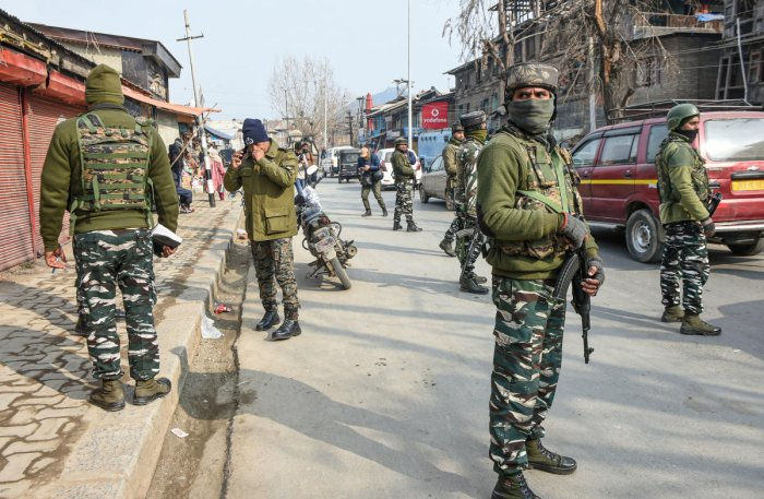 Terrorist strike near Srinagar, two soldiers killed