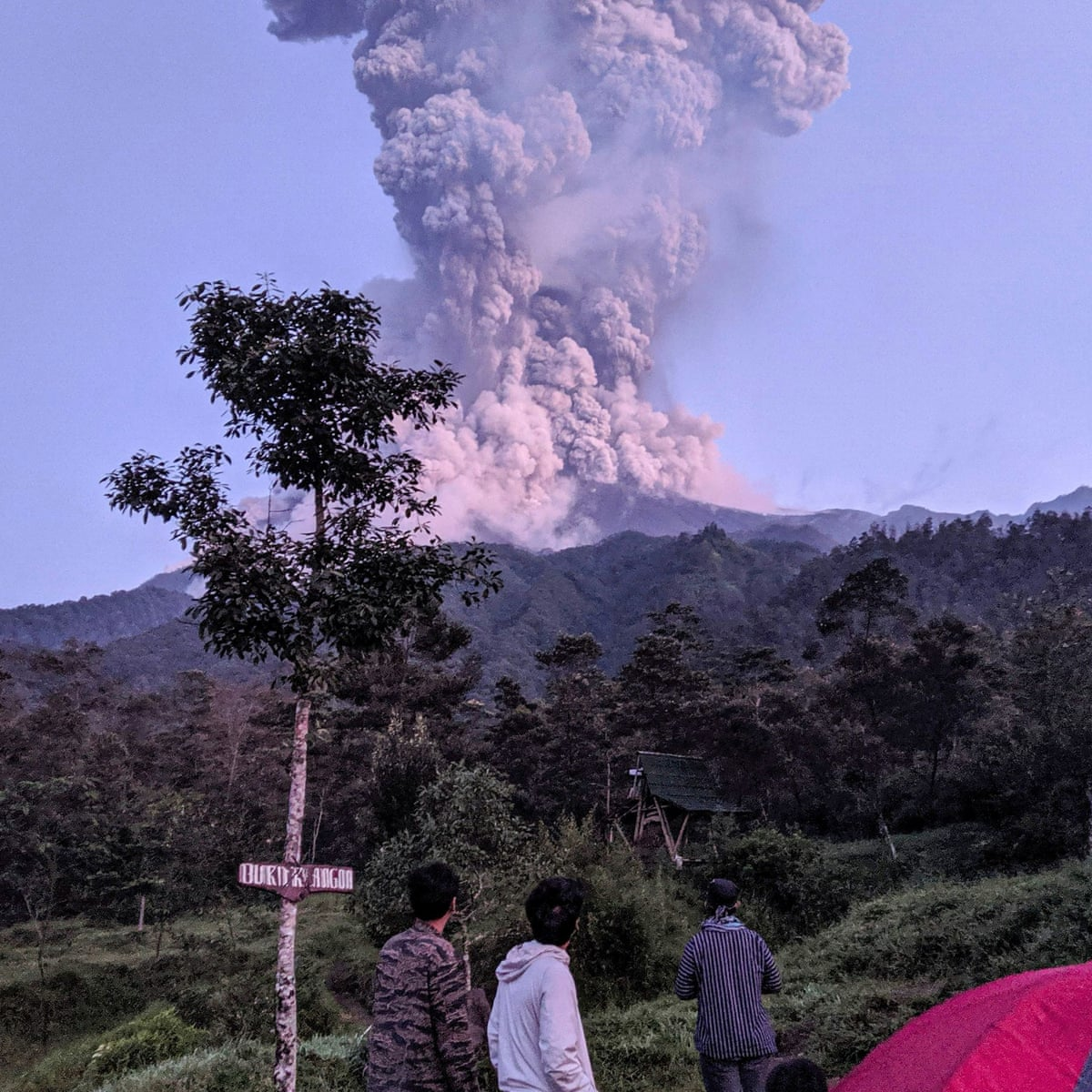 Indonesia's most active volcano erupts
